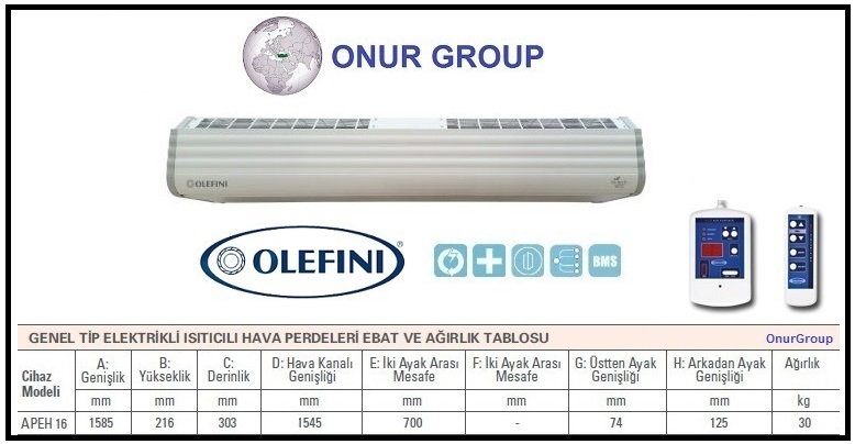 Olefini Apeh-16 Hava Perdesi