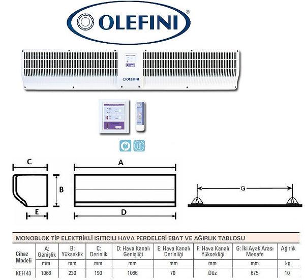 Olefini KEH-43 Monoblok Tip Hava Perdesi