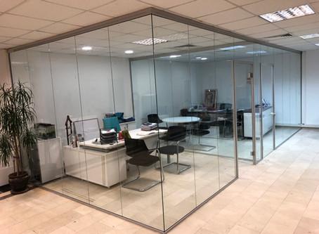 Cam bölme duvar | Ofis dekorasyonu |  Ofis bölme sistemleri