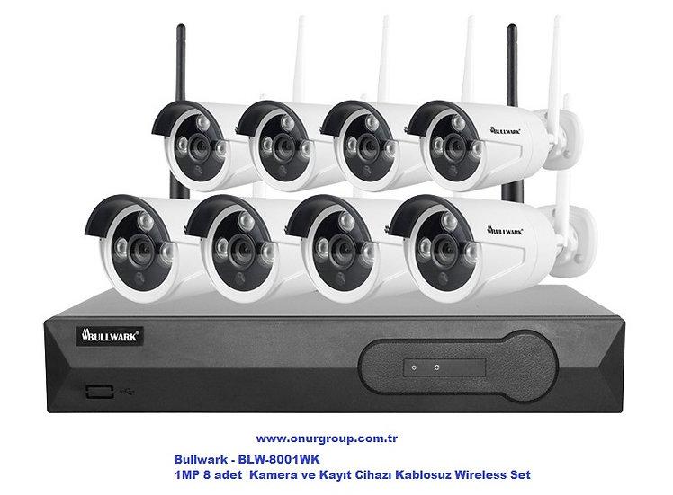 BLW-8001WK 1MP 8 Kamera ve Kayıt Cihazı Kablosuz Wireless Set