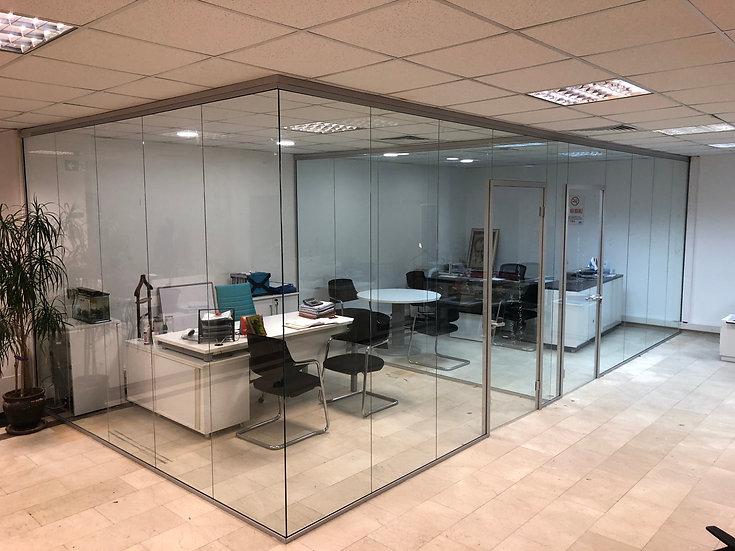 Ofis Bölme Sistemleri | Cam bölme duvar | Ahşap | Alüminyum uygulamalı modüler c
