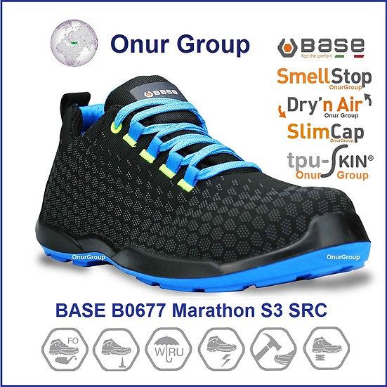 Base B0677 Marathon S3 SRC İtalyan iş güvenliği ayakkabısı