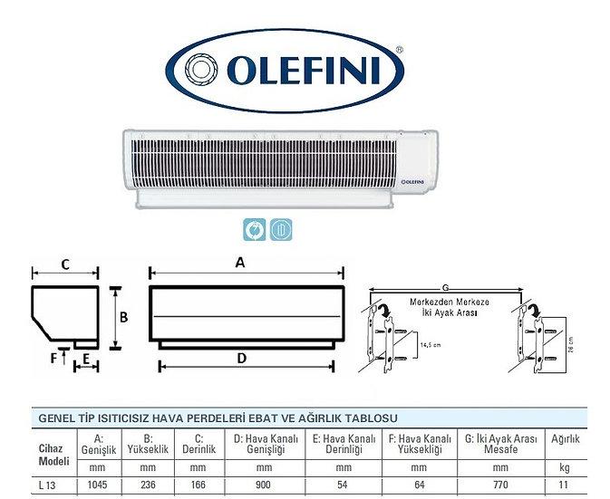 Olefini L-13 Genel Tip Hava Perdesi