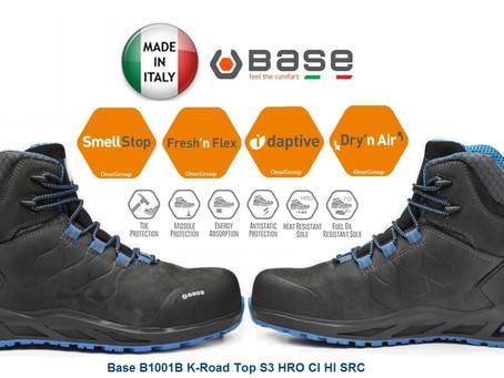 BASE B1001B K-Road TOP S3 Hro CI HI SRC İtalyan Outdoor İş Güvenlik Ayakkabısı