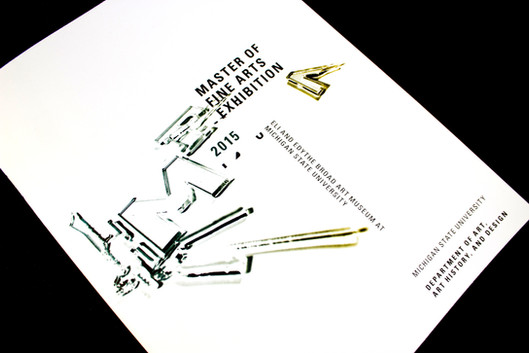 2015 Master of Fine Arts Exhibition booklet