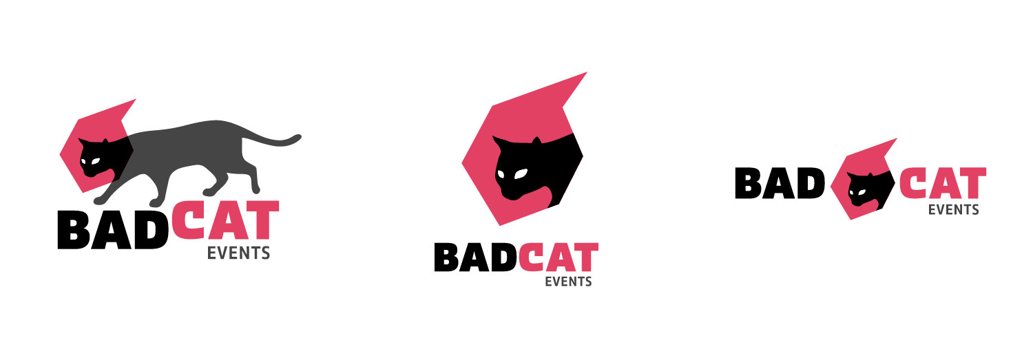 Bad Cat logo variations
