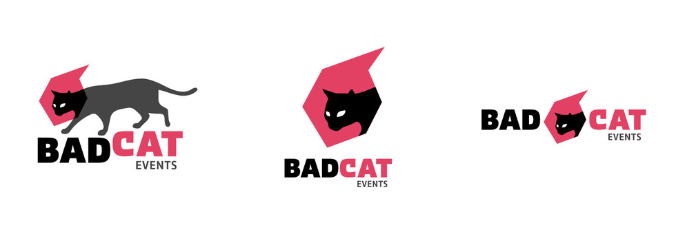 Bad Cat logo variations