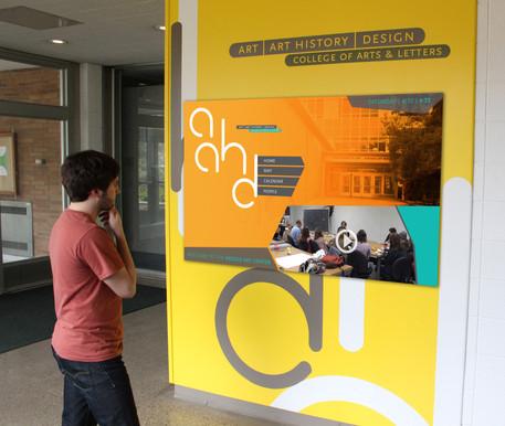 Kresge Art Center interactive touch-screen
