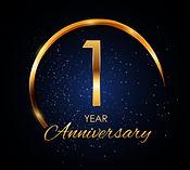 template-logo-1-year-anniversary-vector-