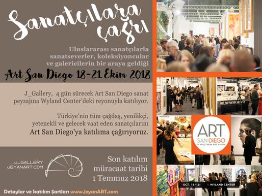 ART SAN DIEGO Buluşması, 18-21 Ekim 2018
