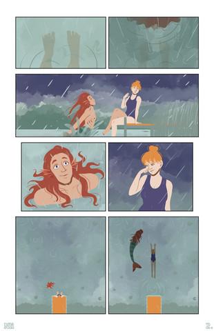 """""""Water feels warmer when it's raining"""""""
