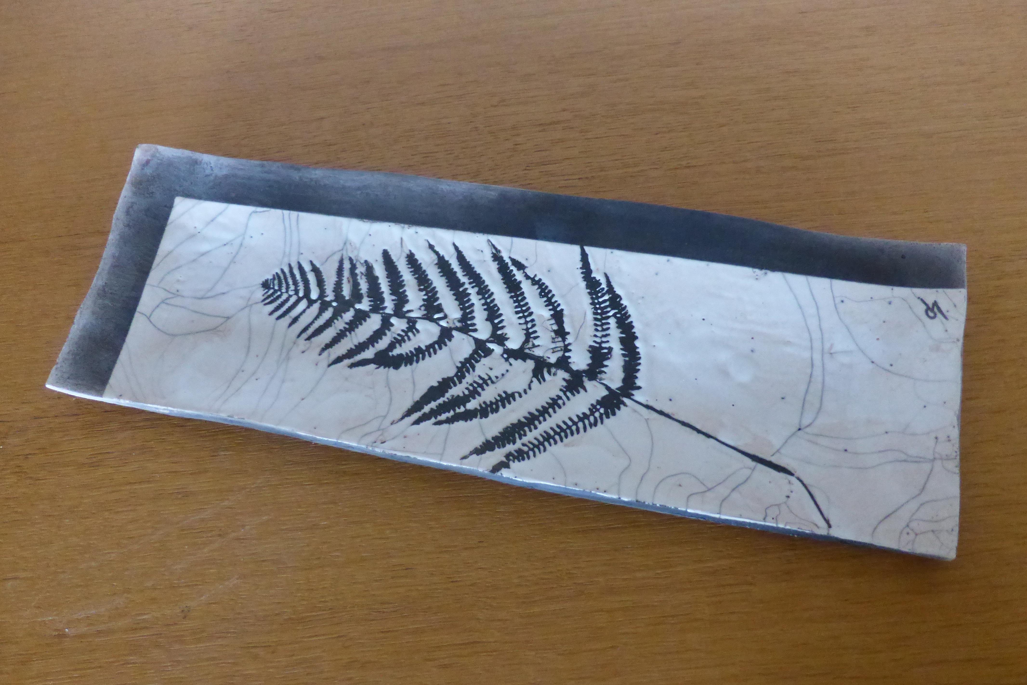 plat fougère raku