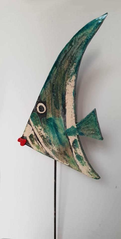 poisson triangle émaillé