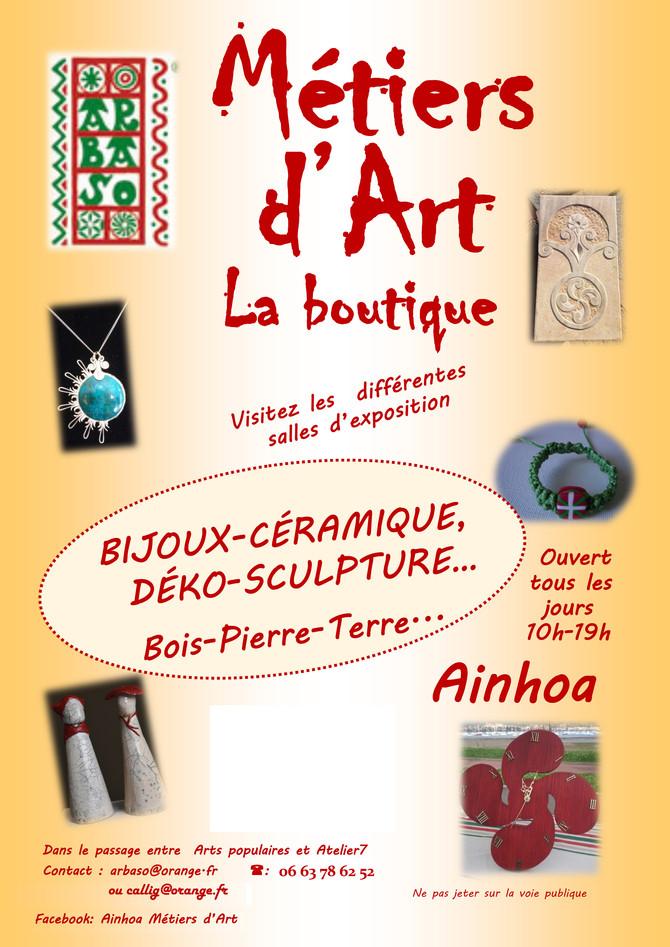 """A partir du 25 mai 2017, mes céramiques seront visibles 7 jours /7 à METIERS D'ART """" la bou"""