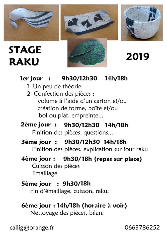 stage de raku à St Jean de luz
