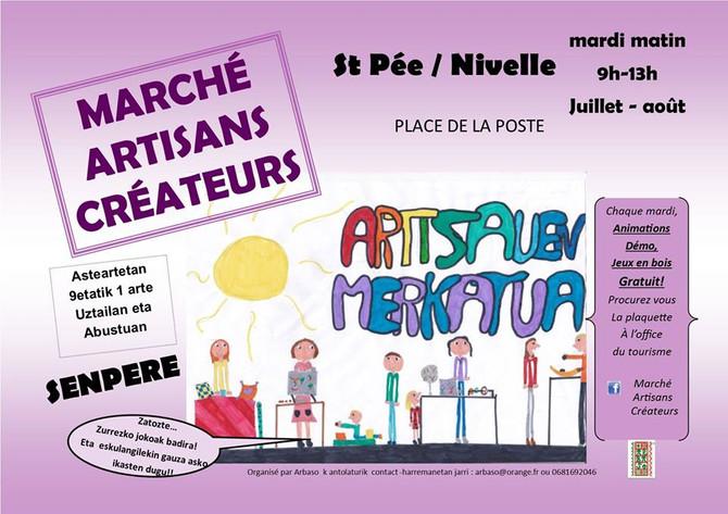 Marché de créateurs st Pée sur Nivelle