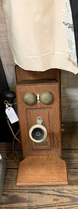 Antique Oak Telephone