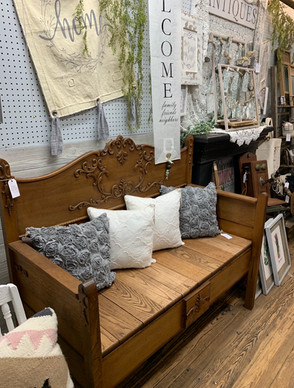 New item oak bench