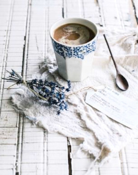 Soft white and blues