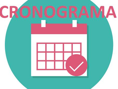 Cronograma de actividades académicas - MEDIACIÓN 1 (Actualizadas el 20 de febrero de 2021)