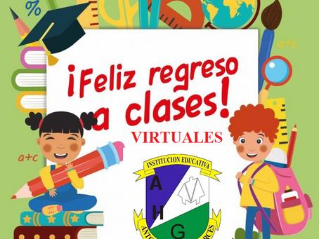 Regreso a las actividades académicas virtuales el martes 15 de junio de 2021