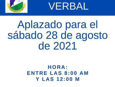 INFORME VERBAL - 28 DE AGOSTO DE 2021