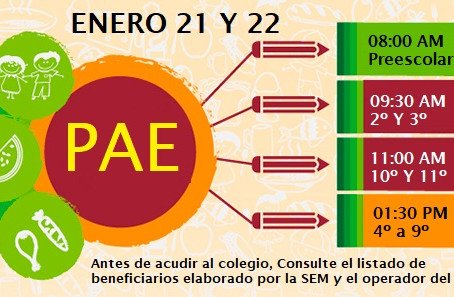 PAE: 21 y 22 DE ENERO