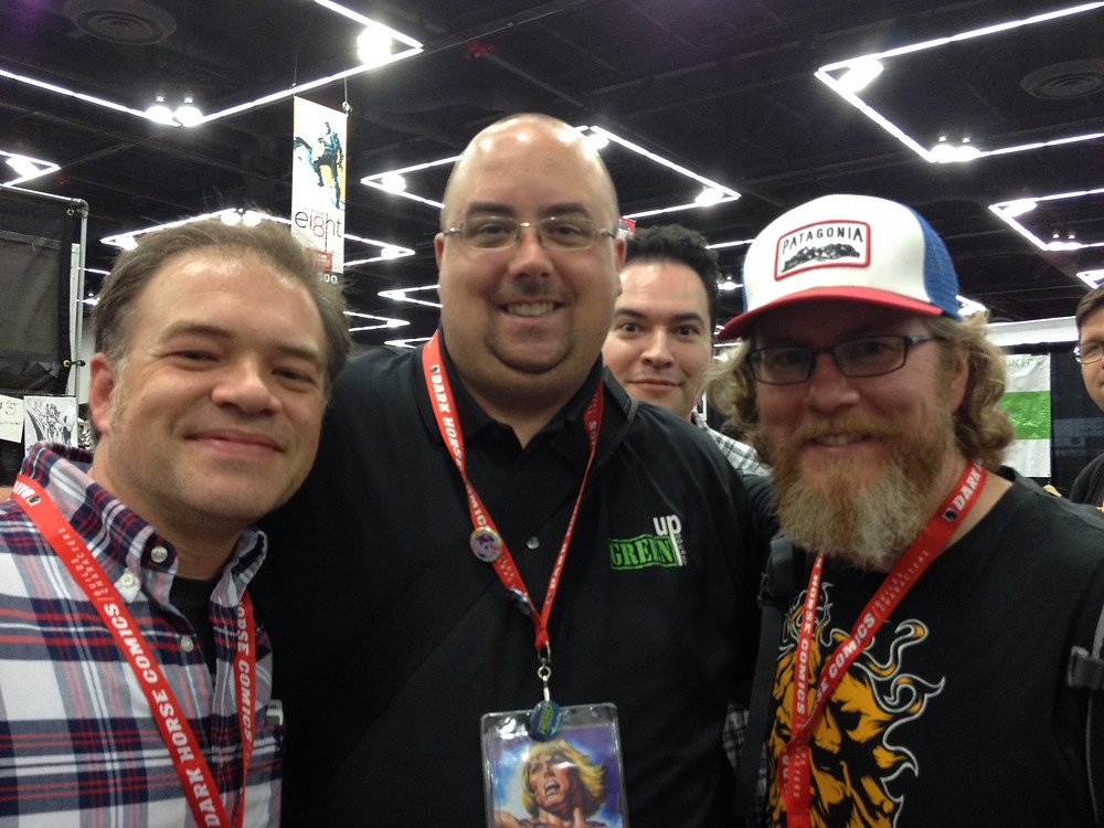 Photo with my favorite podcasters, Nickel & VF from Graphic Novice!