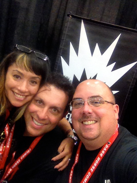 Me with the King and Queen of podcasting! Neil and Annaleis from Dark Angels and Pretty Freaks