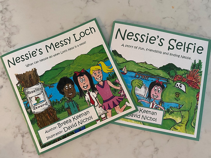 Special offer: buy both books for £15 - Nessie's Selfie & Nessie's Messy Loch