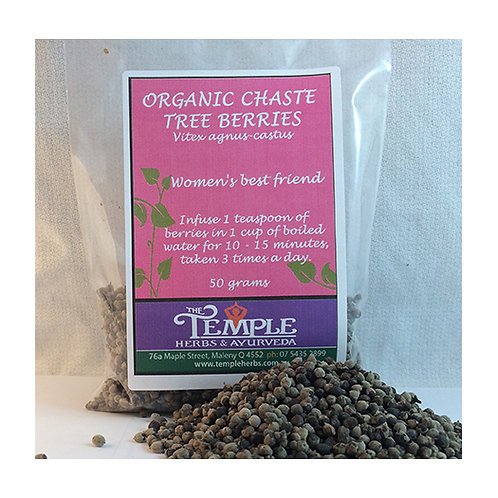 Chaste Tree Berries (organic), 50 grams