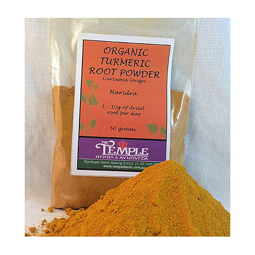 Tumeric Root Powder (organic), 50gms