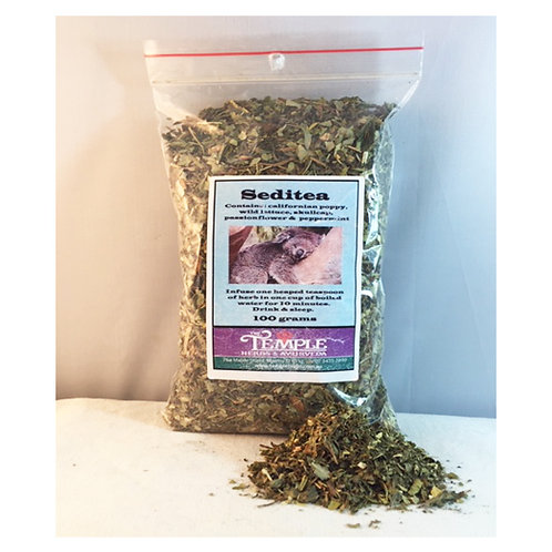 Seditea Herbal Blend Helps Treat Insomnia, 100 grams