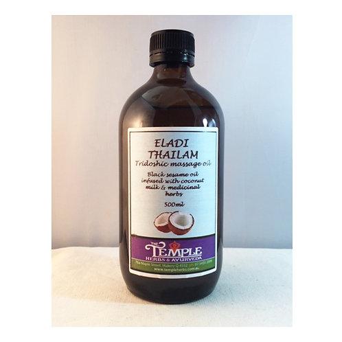 Eladi thailam (eladi oil), tridoshic massage oil, 500mls