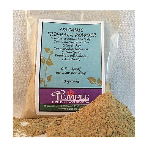 Triphala Powder (organic), 50 grams