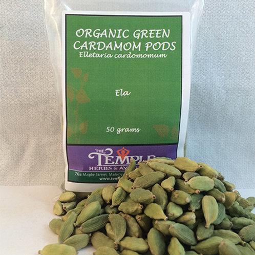 Green Cardamom Pods (organic), 50 grams
