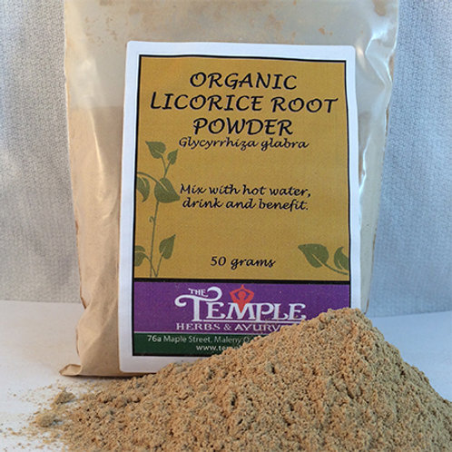 Licorice Root Powder (organic), 50 grams