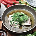 Steamed fish fillets, white soy, ginger and shallots          (market price)