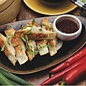 Chicken and vegetable pan fried dumplings	(6pcs)