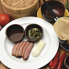 Duck pancakes, pickled cucumber, leek and Hoisin sauce (6pcs)