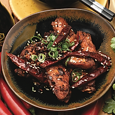 Chong qing style chicken wings, chilli and sichuan peppercorn