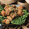 Boneless karaage chicken with plum sauce