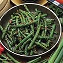 Twice cooked green beans with garlic and chilli