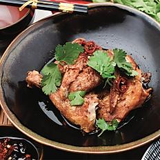 Crispy chicken, Shandong style sauce, black vinegar