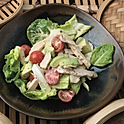 Chicken avocado salad, roasted sesame mayo dressing