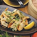 Salt & Pepper squid, garlic and chilli