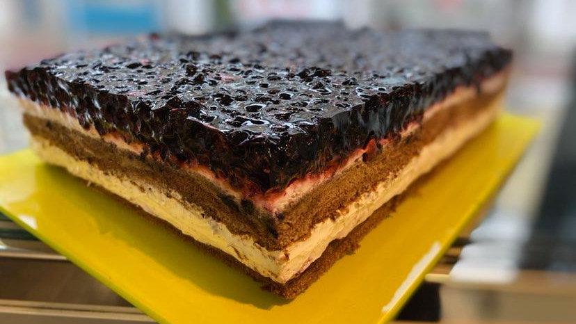 Ciasto z Borówkami - Pojemnik Cukierniczy