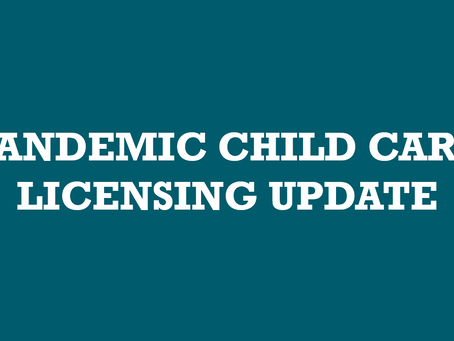 New ODJFS Resources on Pandemic Child Care Licensing.