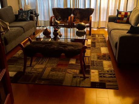 Living Room Patchwork Carpet.