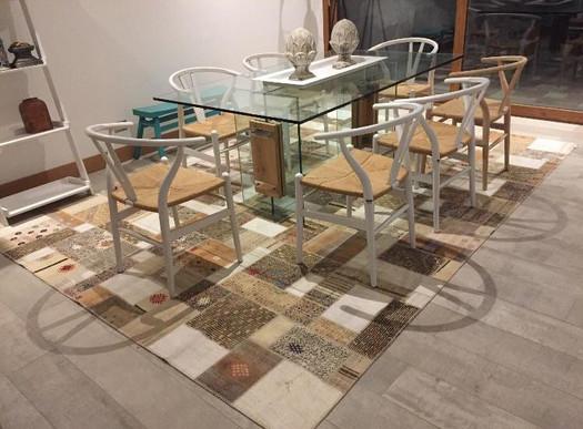 Dining Room Patchwork Carpet